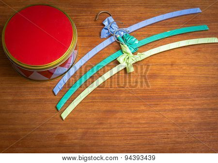 Harlequin Box With Colourful Hangers