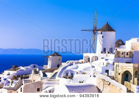 Traditional Greece - windmills of Santorini