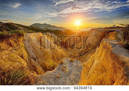 Grand Canyon in hong kong at sunset