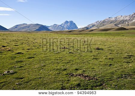Mountain of Gran Sasso in Italy