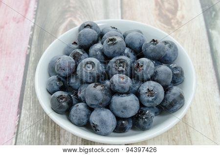 Blueberries On Breakfast Table