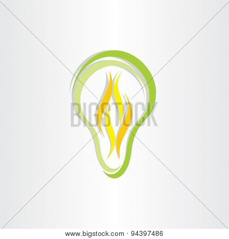 Green Eco Low Energy Bulb Icon