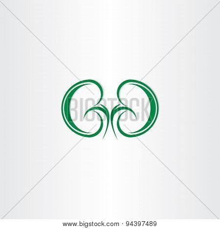 Green Healthy Kidneys Symbol