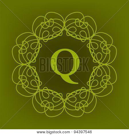 Monogram Q Design