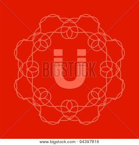 Monogram U Design