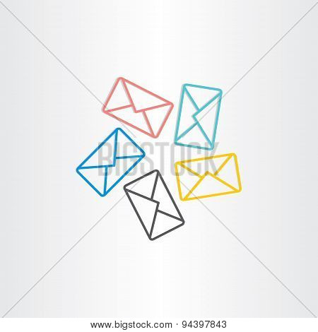 Postal Envelopes Icon Design