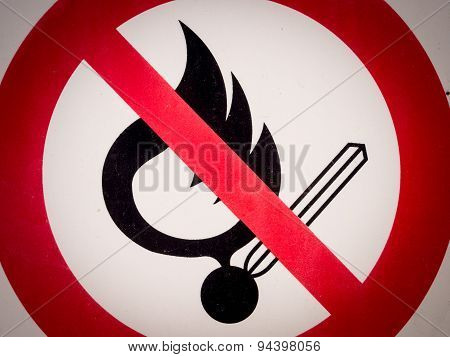 Forbidden Signboard Flame