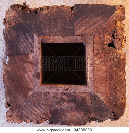 Wooden Block or Frame Background Texture.