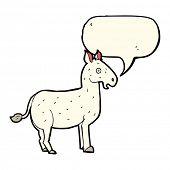 picture of mule  - cartoon mule with speech bubble - JPG