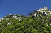 stock photo of castle  - Walls of Castle of Sintra - JPG