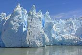 pic of toe  - Dramatic Ice Formations at the Toe of a the Grey Glacier in Patagonian Chile - JPG