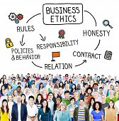 stock photo of honesty  - Business Ethnics Rules Honesty Responsibility Concept - JPG