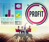 pic of revenue  - Profit Revenue Income Improvement Growth Success Concept - JPG
