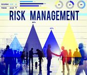 picture of hazardous  - Risk Management Danger Hazard Safety Security Concept - JPG