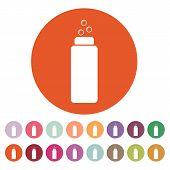 stock photo of gels  - The Liquid Soap Lotion Cream Shampoo icon - JPG