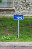 picture of electric station  - Road sign of electric car charging station - JPG