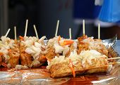pic of fermentation  - Stinky fermented tofu with pickled cabbage and hot sauce is popular in Taiwan - JPG