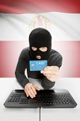 pic of french polynesia  - Cybercrime concept with flag on background  - JPG