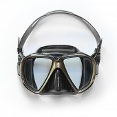 picture of rubber mask  - Dive Mask on a white background with space for your text - JPG