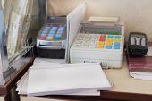 picture of cash register  - The image of cash register - JPG