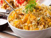image of quinoa  - Quinoa with corn and dill salad - JPG