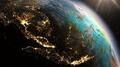 stock photo of south east asia  - Planet Earth South East Asia zone - JPG