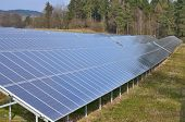 image of bohemia  - production of electricity by photovoltaic panels South Bohemia Czech Republic - JPG