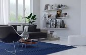 picture of memento  - Cozy lounge interior in a modern house with a corner upholstered suite - JPG
