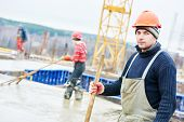image of millwright  - construction builder worker at building site  - JPG