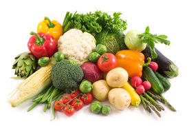 picture of vegetable food fruit  - fresh colorful vegetables isolated on white background - JPG