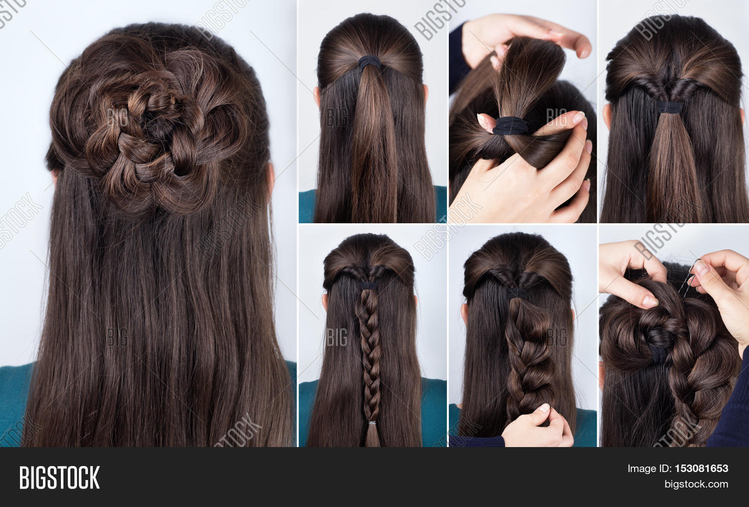 Astounding Hairstyle Braided Rose Tutorial Step By Step Hairstyle For Long Short Hairstyles Gunalazisus
