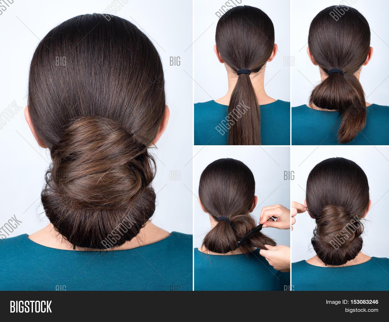 Hairstyle Tutorial Elegant Twisted Bun Easy Chignon For Long Hair