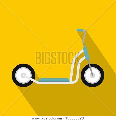 Kick scooter icon. Flat illustration of kick scooter vector icon for web design