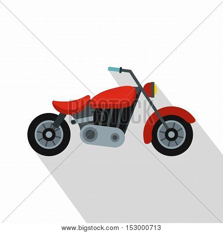 Motorcycle icon. Flat illustration of motorcycle vector icon for web design