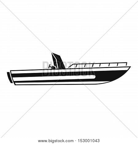 Motor speed boat icon. Simple illustration of boat vector icon for web design