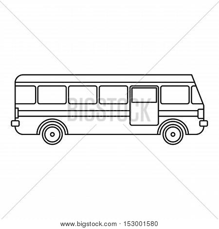 Bus icon. Outline illustration of bus vector icon for web design