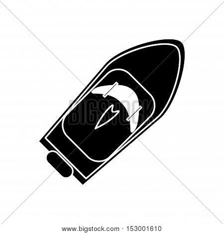 yacht icon. sea transportation nautical and marine theme. Isolated design. Vector illustration