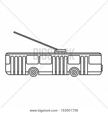 Trolleybus icon. Outline illustration of trolleybus vector icon for web design