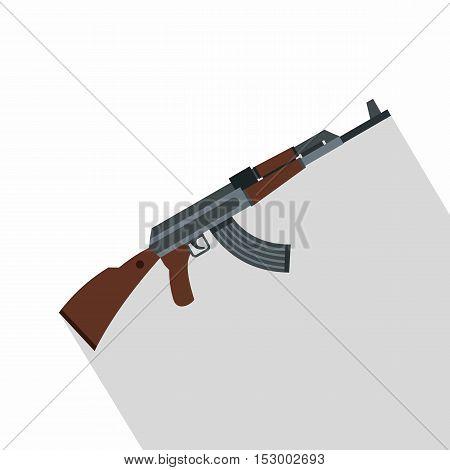 Kalashnikov gun icon. Flat illustration of gun vector icon for web design