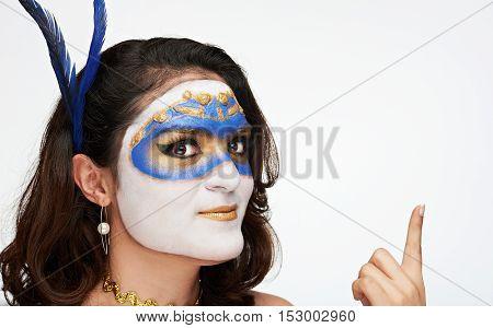 Women In Venetian Mask