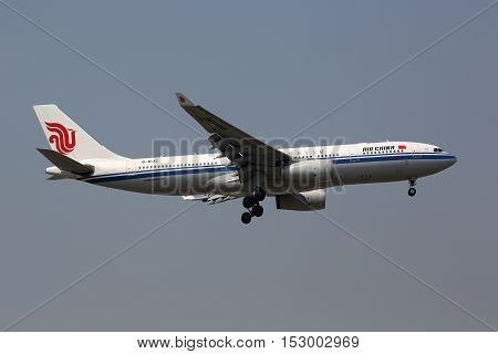 Air China Airbus A330-200 Airplane Beijing Airport