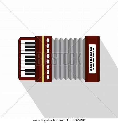Russian folk accordion icon. Flat illustration of accordion vector icon for web design