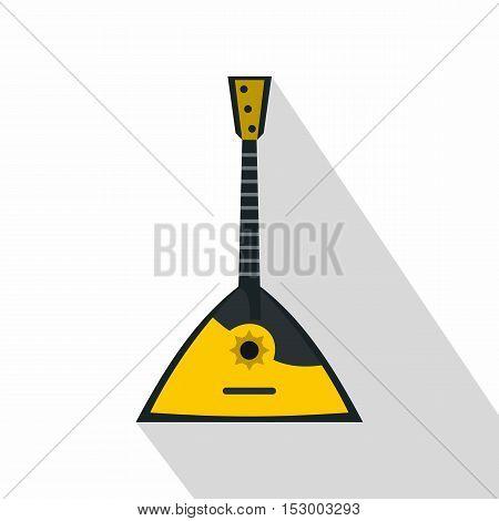 Balalaika Russian folk musical instrument. icon. Flat illustration of balalaika vector icon for web design