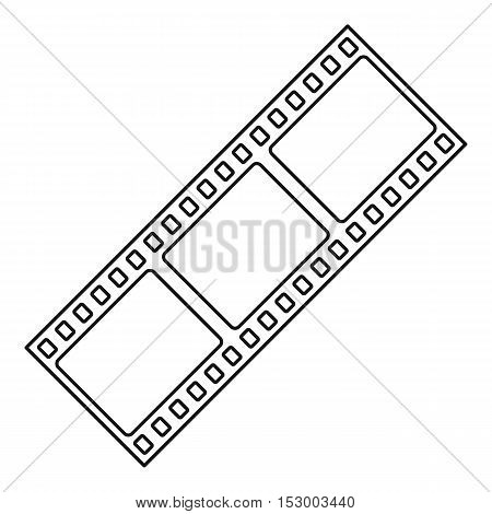 Film strip icon. Outline illustration of film strip vector icon for web