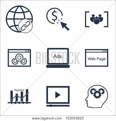 Set Of Seo Icons On Website Performance, Ppc And Website Topics. Editable Vector Illustration. Inclu
