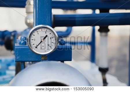 bars pressure sensor on the agricultural machine