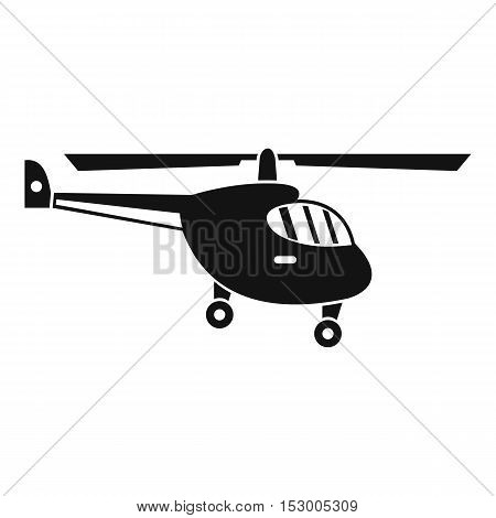 Helicopter icon. Simple illustration of helicopter vector icon for web