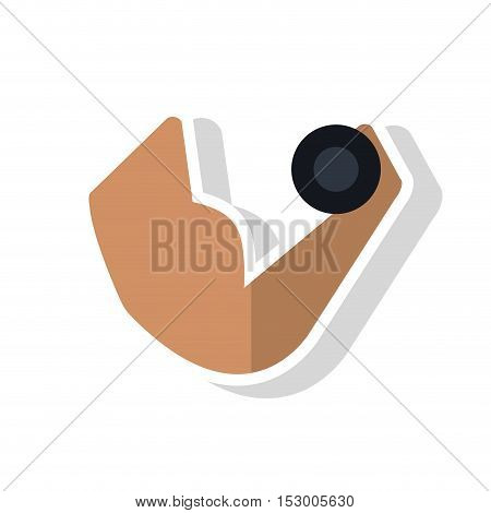Weight lifting icon. Fitness gym sport and bodybuilding theme. Isolated design. Vector illustration