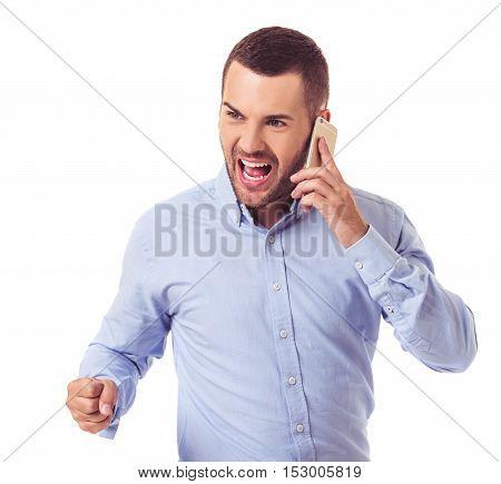 Businessman With Gadget