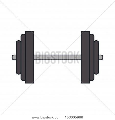 Weight icon. Fitness gym sport and bodybuilding theme. Isolated design. Vector illustration